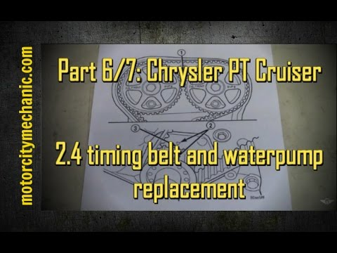 part 6 7 chrysler pt cruiser timing belt and waterpump. Black Bedroom Furniture Sets. Home Design Ideas