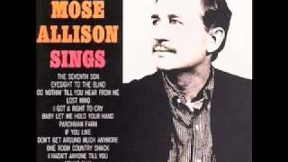 Mose Allison - Baby Let Me Hold Your Hand