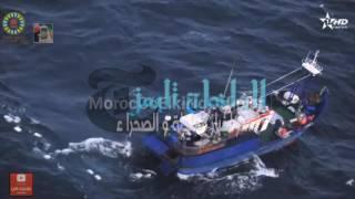 شاهد ::: عملية احباط تهريب الكوكايين عبر سواحل الداخلة