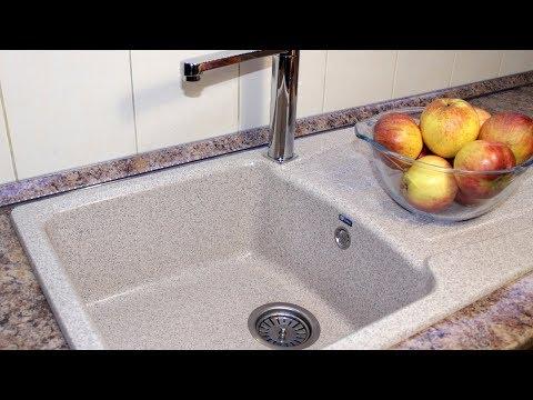 Установка раковины на кухне своими руками видео