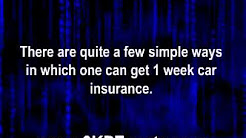 1 Week Car Insurance- Get Your Car Insured for Short Term