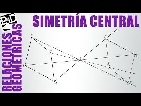 Simetría central de un polígono.