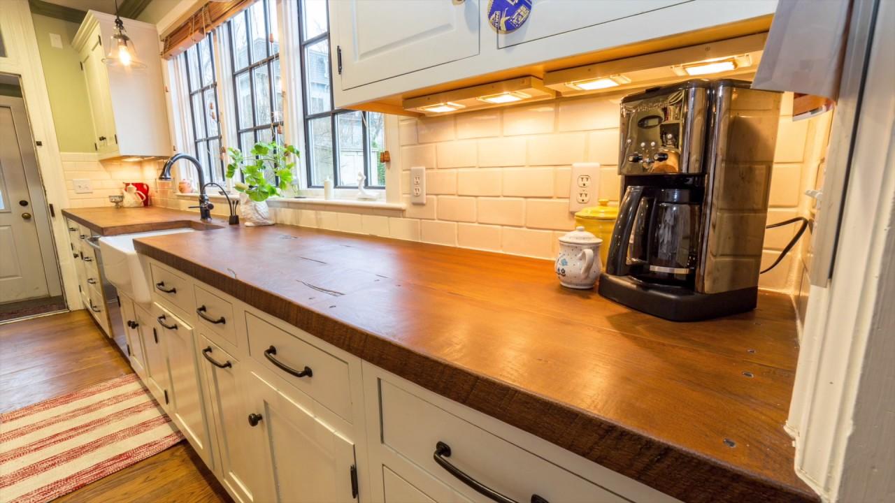 Modern Farmhouse Woodform Kitchen Countertops - YouTube on Farmhouse Countertops  id=14155