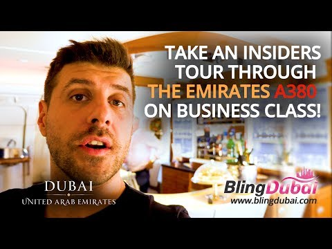 ★- Emirates A380 Business Class Tour and Business Class Lounges -★