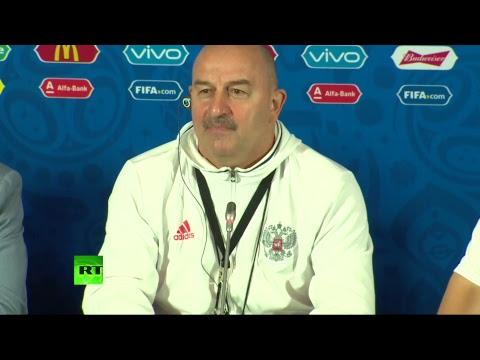 Предыгровая пресс-конференция Станислава Черчесова  накануне матча Россия — Мексика