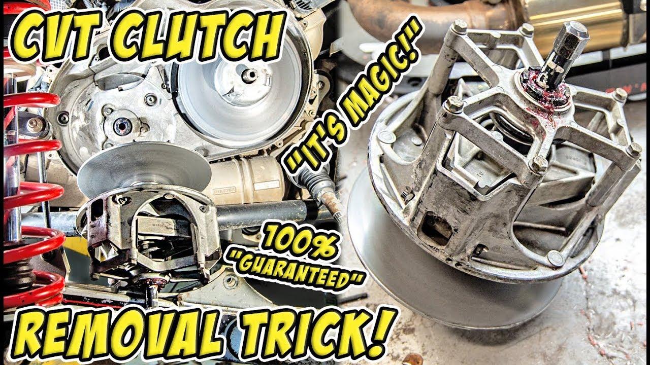 How to Remove a Stuck CVT/PVT Primary Clutch on a SXS/UTV/ATV/Snowmobile -  Awesome DIY Trick!