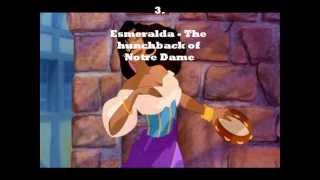 My top 30 Disney female characters