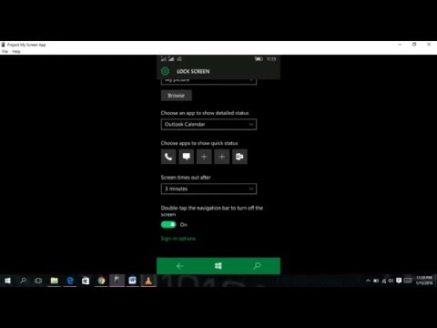 HOW TO SET A PASSWORD ON WINDOWS PHONE 10....