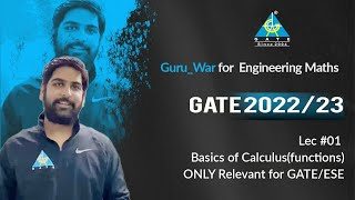 Basics of Calculus ( Function )   GURU_War for Engineering. Maths   GATE 2022/23   Lecture 1