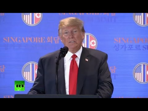 Trump speaks to press after historic summit with Kim Jong-un (streamed live)