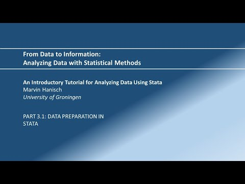 Statistics Made Easy 3: Data Preparation In Stata