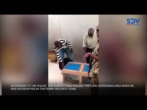 Mombasa police nab a man with 10kg python coiled in his suitcase at the Likoni crossing channel