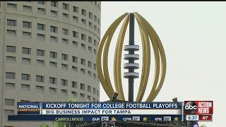 Kickoff tonight for National Championship game in Tampa