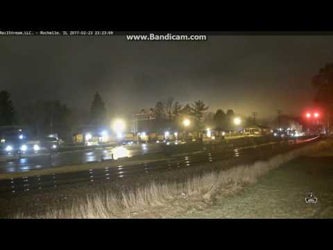 Rochelle, IL Rail Grinder Caught on...