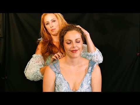 Princess Corrina & Maid Servant Adrienne ASMR Role Play Scalp Massage Hair Play Treatment