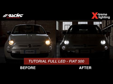Plafoniera Targa Led Golf 7 : Ita] fiat 500 full kit conversione led simoni racing youtube