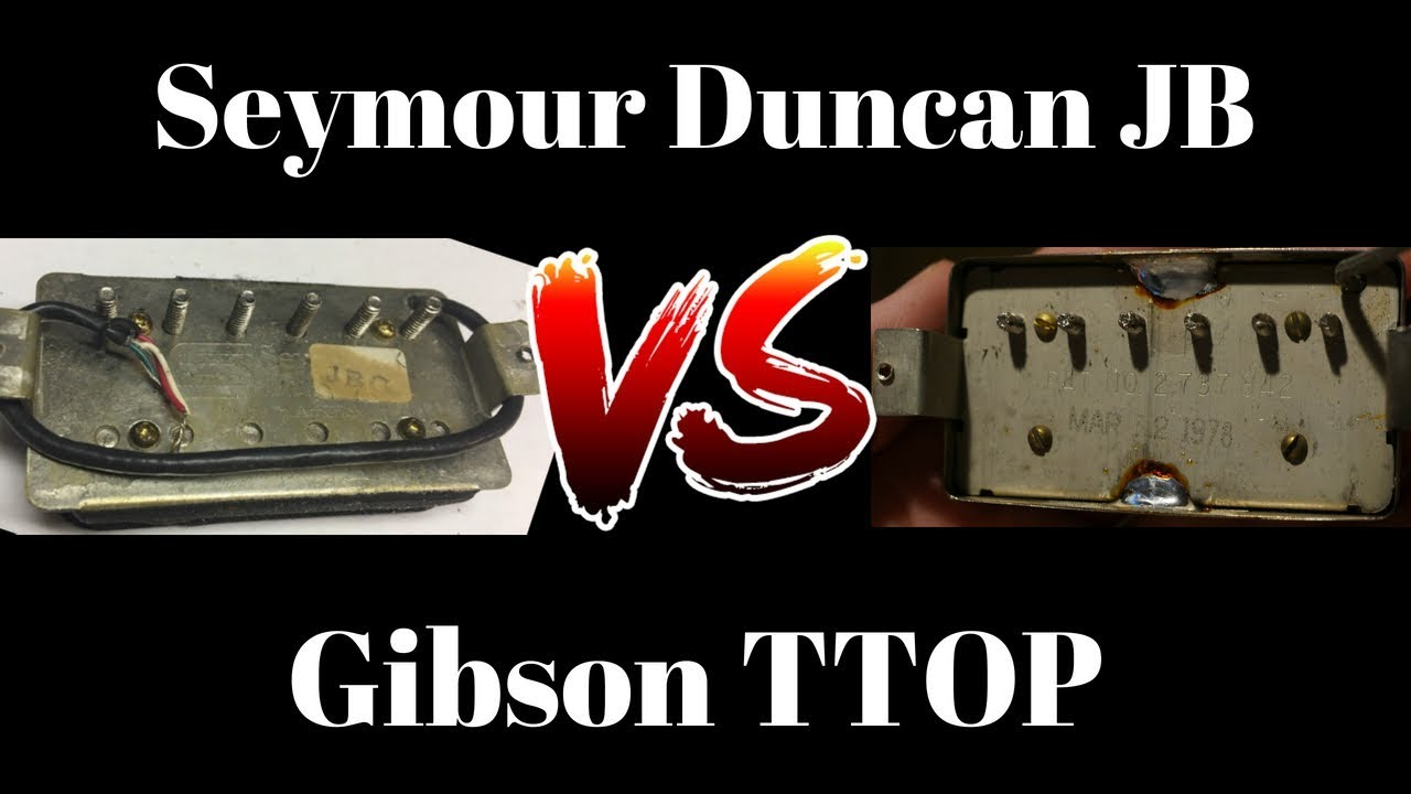 1980s Seymour Duncan JB vs 1970s Gibson Ttop Bridge Pickup | Tone Comparison