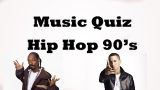Music Quiz - Hip-hop 90