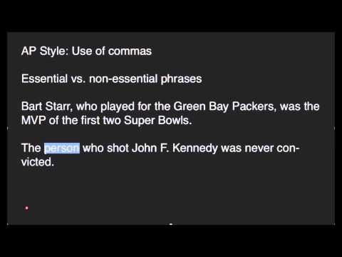AP Style: Commas (Part 2 of 4)