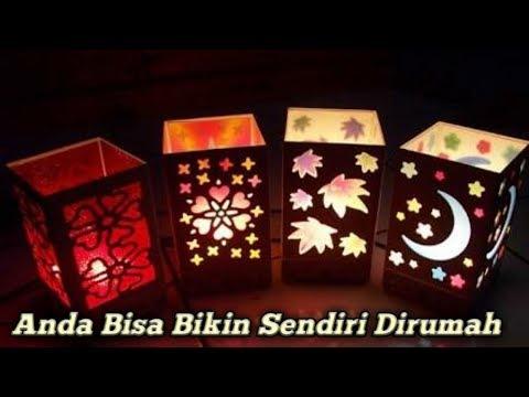 CARA MEMBUAT LAMPU TIDUR DARI KARDUS BEKAS - HOW TO MAKE A SLEEP LIGHT FROM USED CARDS Alat dan....
