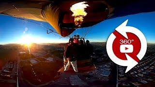 360 Camera Balloon Launch With Wingsuit Jumps - Raw Footage -00566