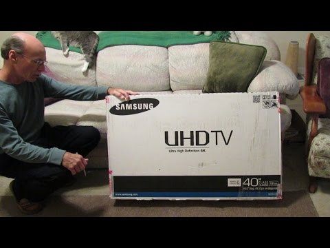 Samsung Model UN40HU6950FXZA Ultra High Definition TV - Unboxing and Assembly