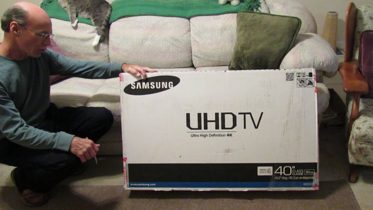 Samsung model un40hu6950fxza ultra high definition tv unboxing and assembly youtube - Ultra high def tv prank ...