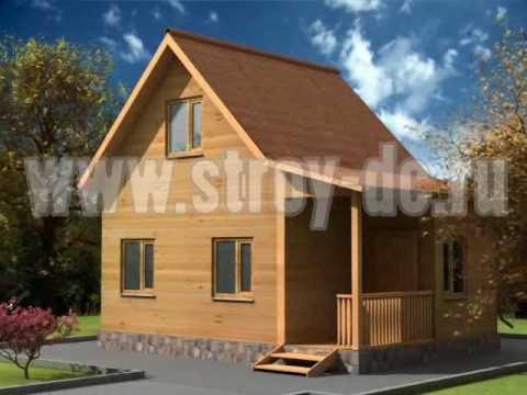 СтройДомКомфорт. Проекты деревянных домов из бруса.