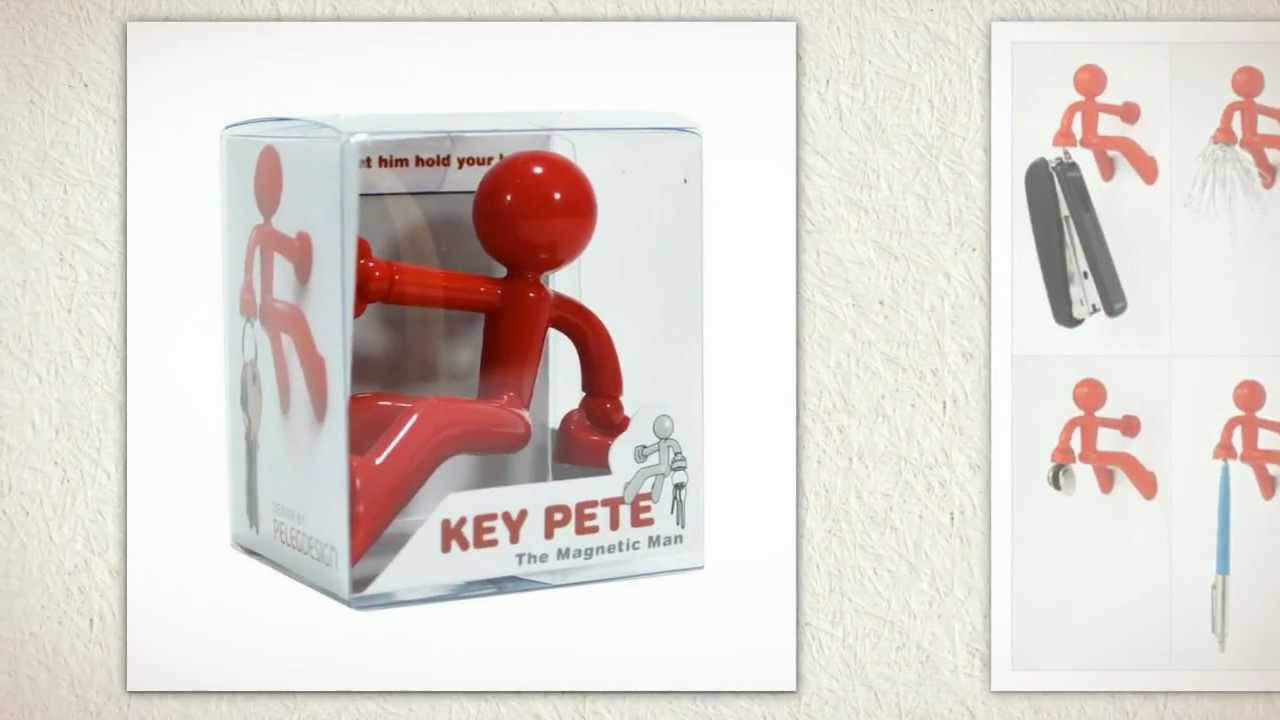Key Pete The Magnetic Man & Key Petite The Magnetic Girl Key Holders By  Peleg Design - YouTube