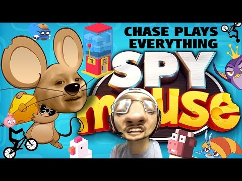 Chase Plays Everything Part 4! Spy Mouse, Crossy Road, Angry Birds Stella & Crazy Helium Video Booth