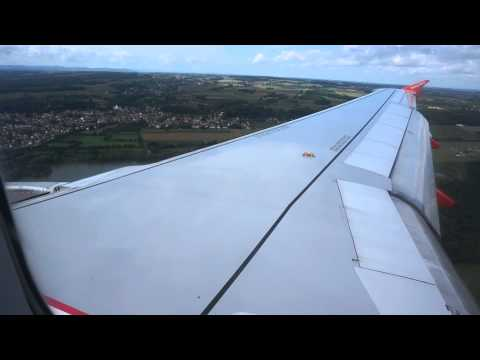 Airbus A320-214 easyJet CH - Approach, Landing, Taxi and Shutdown. Basel-Mulhouse from Alicante