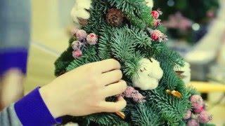 Как сделать новогоднюю ёлочку, или записаться на мастер класс  от Tani Star (Студия-Флористики)!