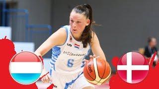 Luxembourg v Denmark - Full Game -Class 9-16- FIBA U18 Women's European Championship Division B 2018