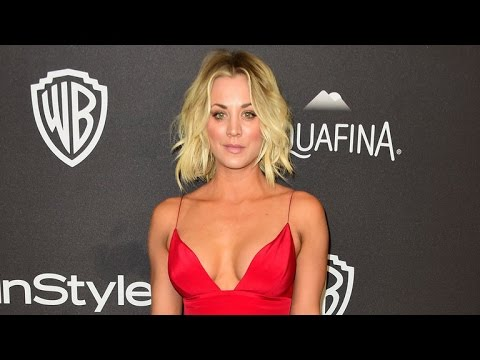 Kaley Cuoco Flaunts Some Major Cleavage in Hot Golden Globes After-Party Dress