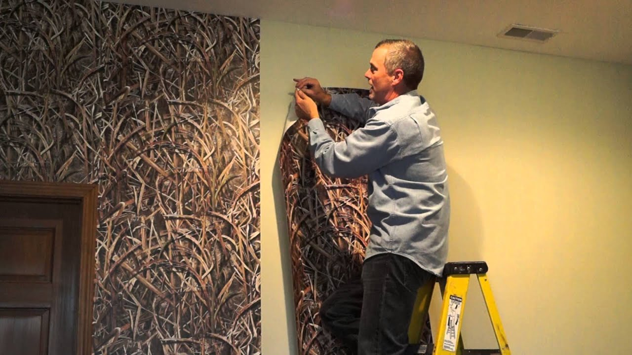 Camo Wallpaper Installation Mossy Oak Graphics - YouTube