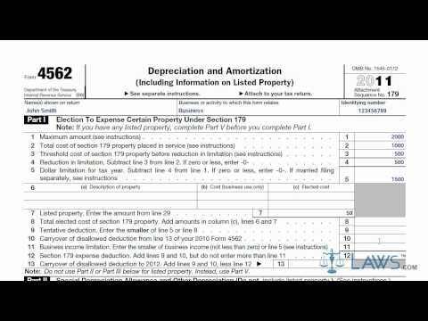 Learn How to Fill the Form 4562 Depreciation and