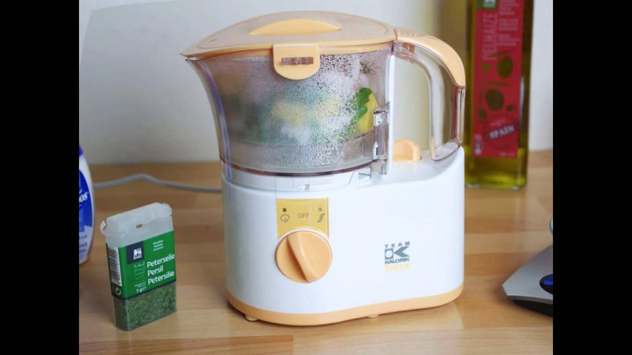 Kalorik cocedor al vapor y robot de cocina para for Robot de cocina para bebes