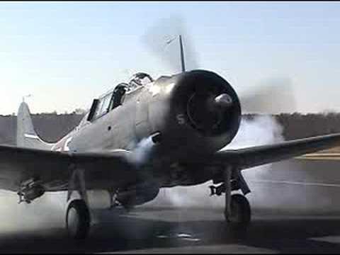Douglas Dauntless SBD Dive Bomber Startup