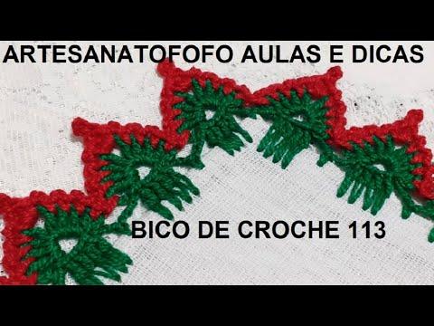 Bico de crochê natalino #DESTRO   - CROCHÊ  113 #bicodecroche #bicodecrochenatal