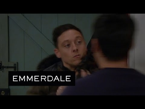 Emmerdale - Matty Provokes Cain Into Attacking Him