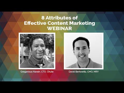 WEBINAR: Content Marketing Aperture with MRY CMO David Berkowitz