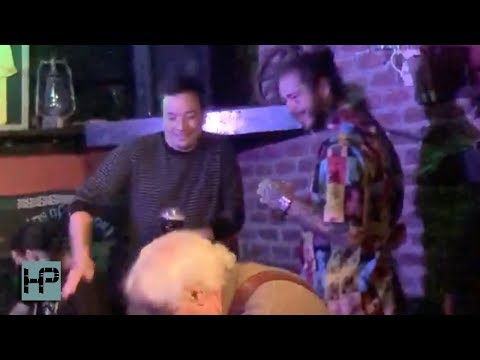 Post Malone and Jimmy Fallon Boys Night - O Garden Booze and Drunk Singing