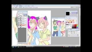 【オリジ猫耳娘】仮塗り【Azpainter2】2/3 thumbnail