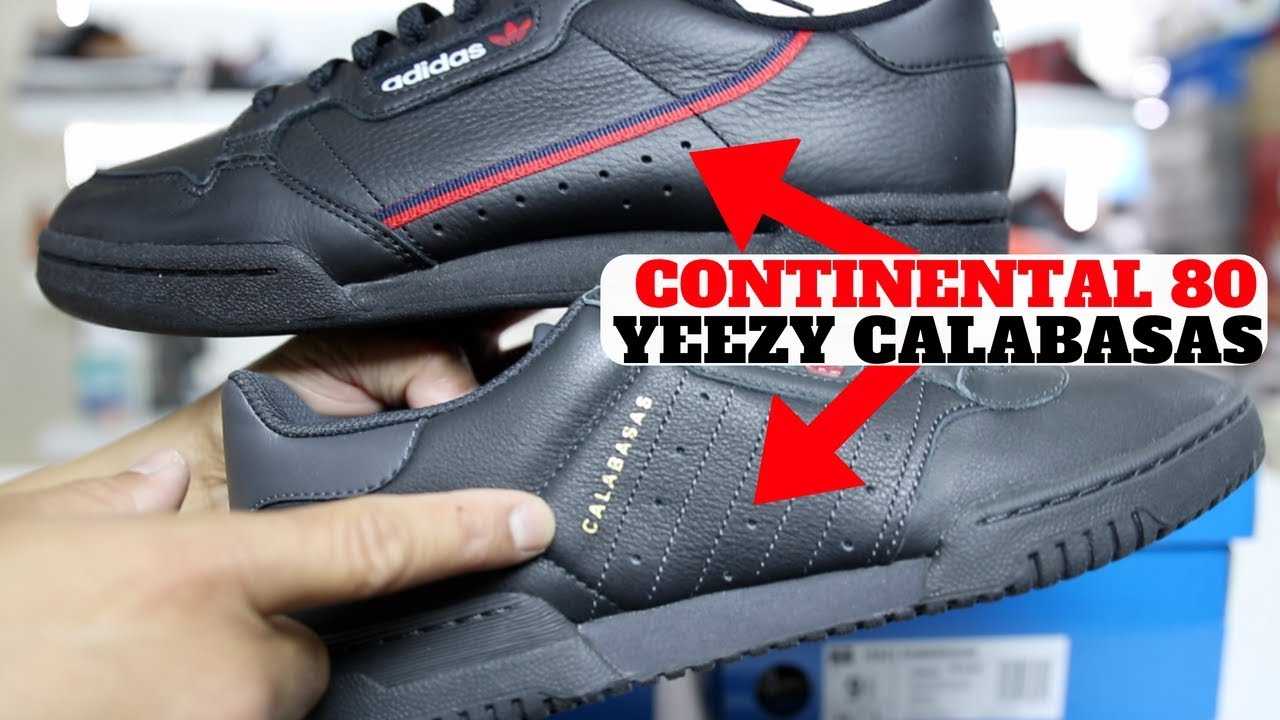 half off 9a9ff ad686 adidas Continental 80 vs Yeezy Powerphase Calabasas Compared!! + Giveaway