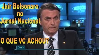 BOLSONARO NO JN