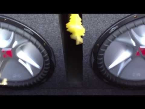 Kicker Cvr Dual 15 Subwoofers Loud Demo Youtube