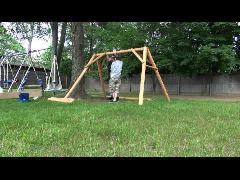 The Swing Setup (Full) Contoured Comfort 5 ft Log Swing - Model # CF1128