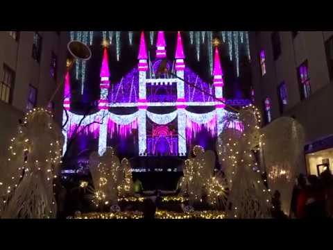 2016 Saks Fifth Avenue Holiday Light Show and fireworks