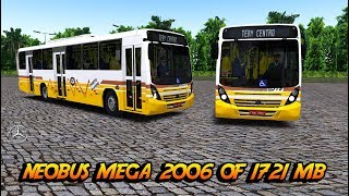 #OMSI2 Neobus Mega 2006 MBB OF 1721 BT5 Skin Porto Alegre Mapa Brigadeiro