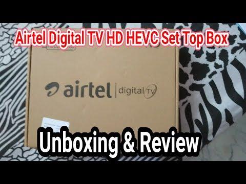 Airtel Digital TV HEVC HD Set top box Unboxing & Review. (Must Watch)